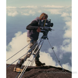 Adrian Warren Filming From The Prow Of Mount Roraima, For The Living Eden, PBS