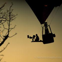 Adrian Warren Filming Over Etosha National Park, Namibia