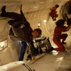 Adrian Warren In Zero Gravity, On Set Of Sky From Above With David Attenborough