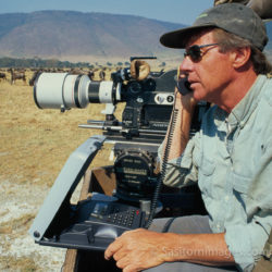 Adrian Warren Filming Ngorongoro Crator, Tanzania
