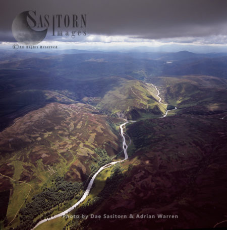 The South Esk River In The Grampian Mountains, Highlands, Scotland