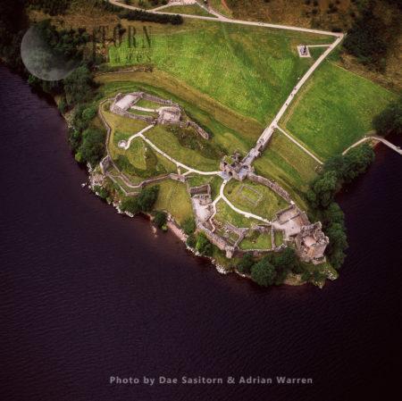 Urquhart Castle, Sits Beside Loch Ness, Highlands, Scotland