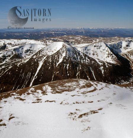 Cairn Toul Seen From Ben Macdui, Cairngorms, Highlands, Scotland