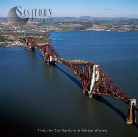 The Forth Bridge, A Cantilever, Railway Bridge Over The Firth Of Forth, Scotland