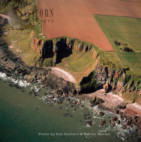 Cliffs At Red Head & Site Of Fort, Scotland