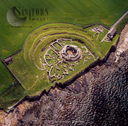 Broch Of Gurness, An Iron Age 'broch Village' On The Northwest Coast Of Mainland Orkney, Overlooking Eynhallow Sound, Orkney Islands, Scotland