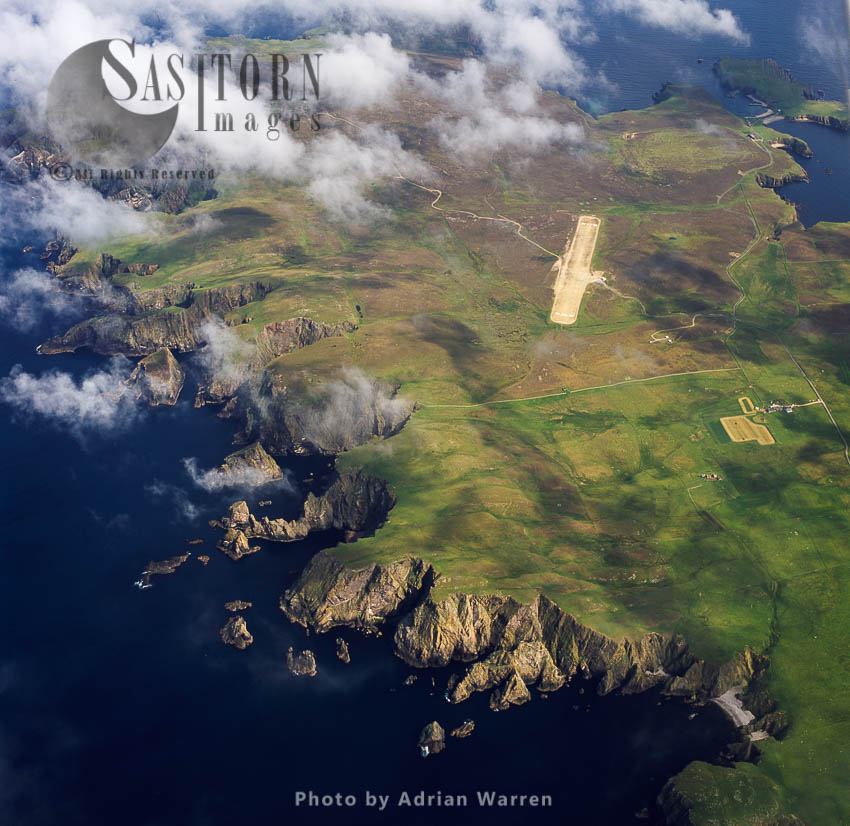 Fair Isle And Its Airfield, An Island, Halfway Between Shetland And The Orkney Islands