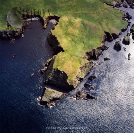 Fair Isle, The Most Remote Inhabited Island In The United Kingdom, Halfway Between Shetland And The Orkney Islands