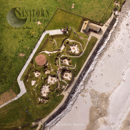 Skara Brae, A Large Stone-built Neolithic Settlement, On The Bay Of Skaill, West Coast Of Mainland Orkney, Scotland