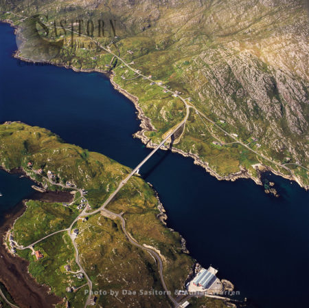 Isle Of Scalpay With Bridge To Isle Of Lewis, Outer Hebrides