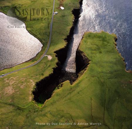 Volcanic Cliffs, Just North East Of Esha Ness, Northmavine Peninsula, Shetland