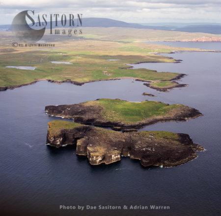 Isle If Stenness, Near Eshaness, Shetland, Scotland