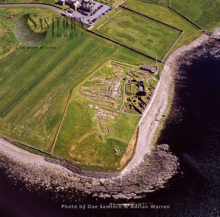 Jarlshof, Prehistoric Archaeological Site, Southern Tip Of The Shetland Mainland, Shetland Islands, Scotland