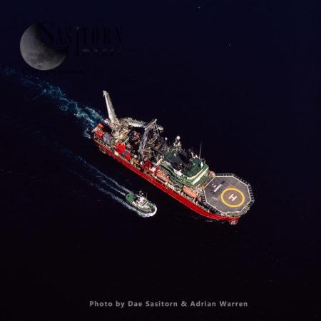 North Sea Oil Vessel Seawell, Shetland Islands, Scotland