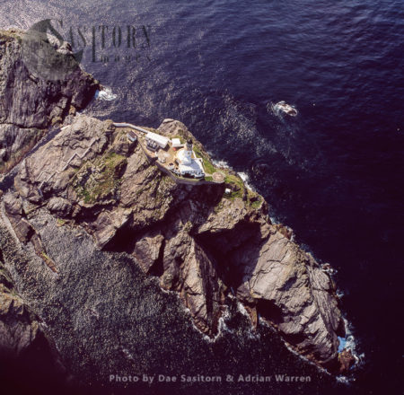 Muckle Flugga And Lighthouse, A Small Rocky Island North Of Unst, Shetland Islands
