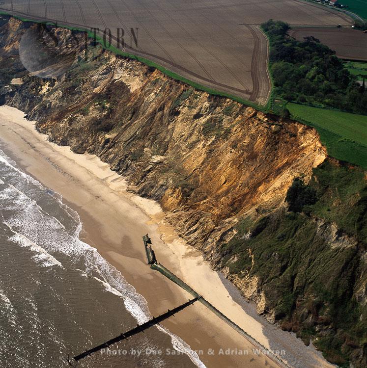 Coast Erosion By North Sea, East Runton, Norfolk