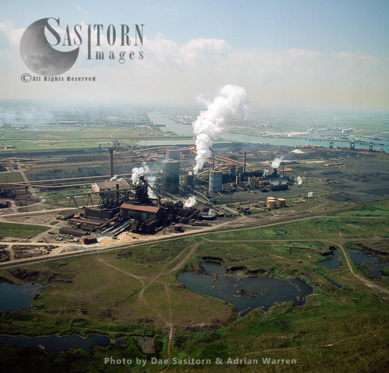 Teesside Steelworks, Tees Estuary, Cleveland, England