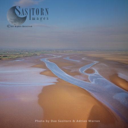 Mud Flats At Solway Firth, Cumbria