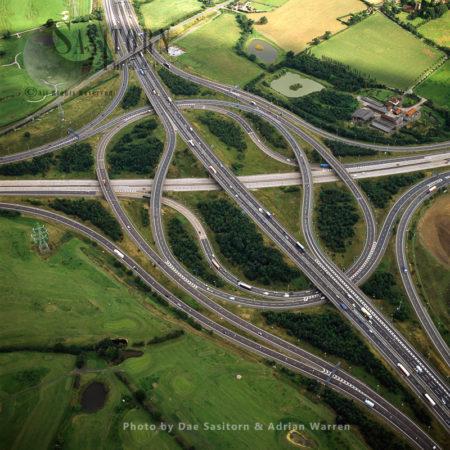 M25 / M11 Motorway Junction, Roads, Essex