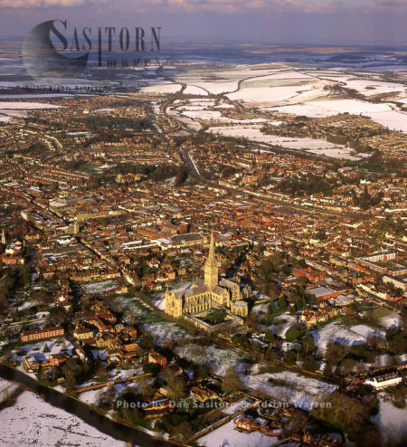 Salisbury Cathedral And City, Wiltshire