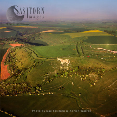 Westbury White Horse And Bratton Camp Hill Fort, Westbury, Wiltshire