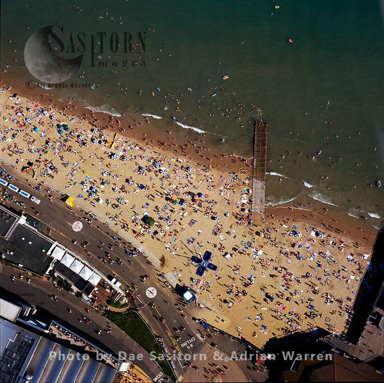 Bournemouth beach scene, Dorset