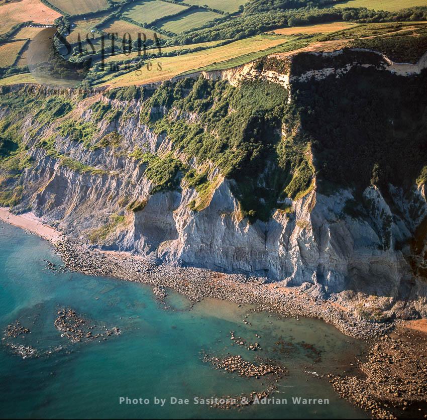 Eroding Cliffs Near Charmouth, Dorset, England