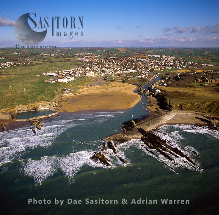Bude, on the mouth of the River Neet, Cornwall