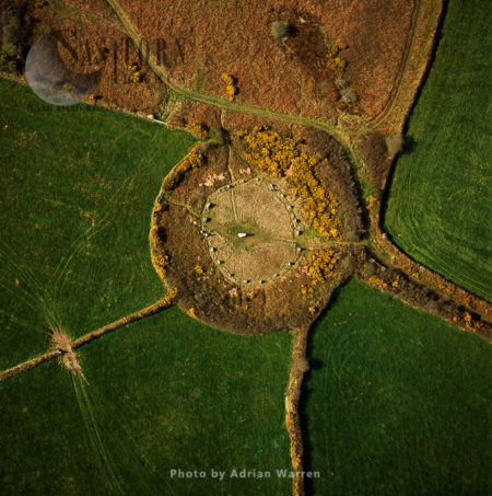 Boscawen-un Stone Circle (with Gorse Flowers), St Buryan, Cornwall