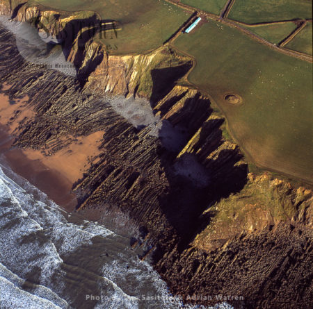 Beach, Rock And Cliffs Just South Of Bude, Cornwall