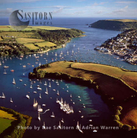 Salcombe, Kingbridge Estuary Natural Harbour, Devon, England