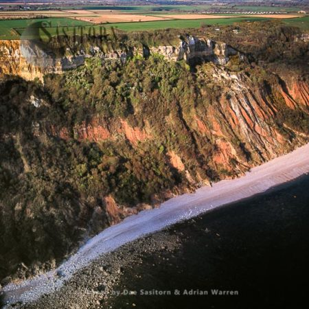 Salcombe Hill Eroded Cliffs, East Of Sidmouth, Devon