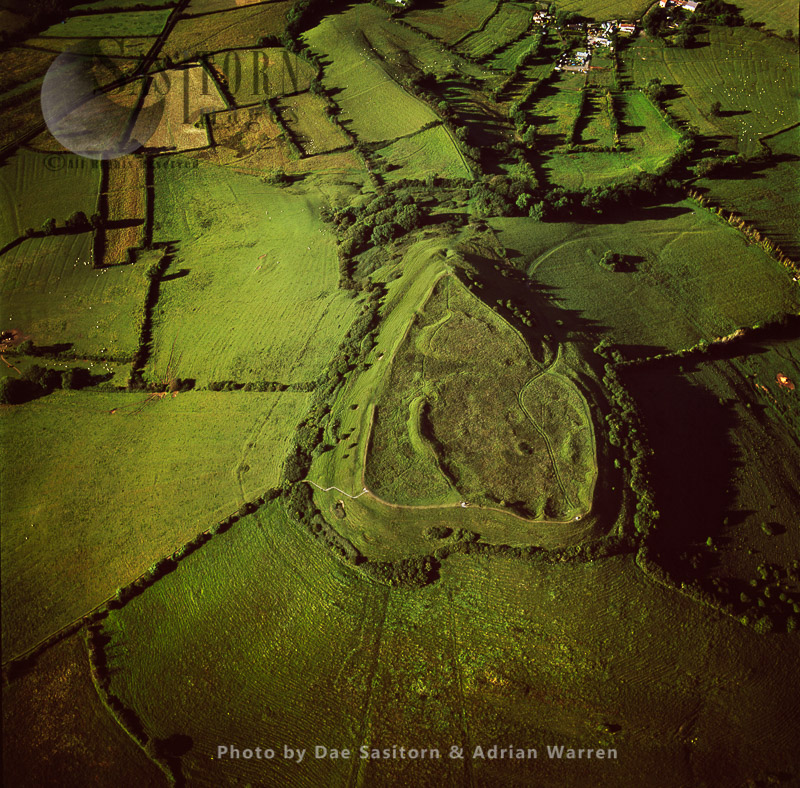 Brent Knoll, A Heart Shape Hill Fort, Somerset