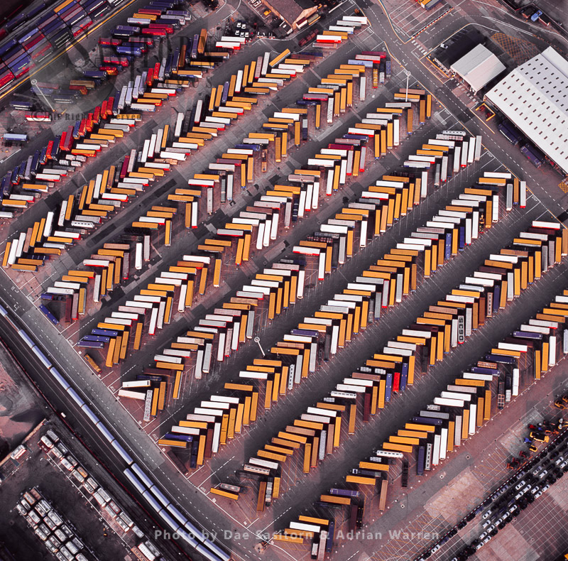 Shipping Containers At Purfleet,Thames Estuary, Essex