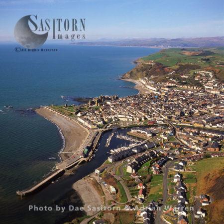 Aberystwyth, In Aberystwyth, On The Coast, Large Stone Ruins, South Wales