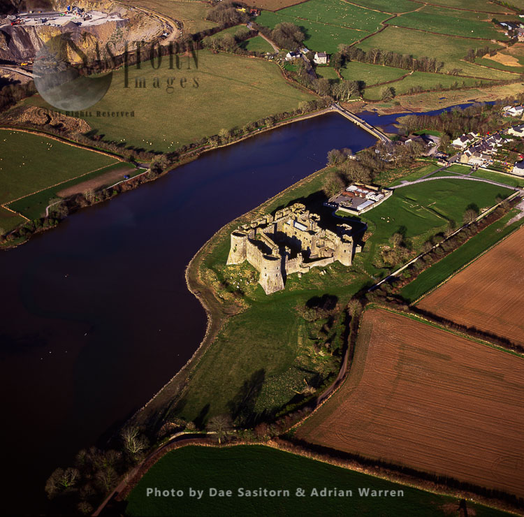 Carew Castle On The Carew River,, Dyfed, South Wales