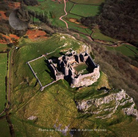 Carreq Cennen Castle, NearLlandeilo, Carmarthenshire. South Wales