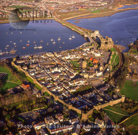 Conwy Castle And Town Centre, North Wales
