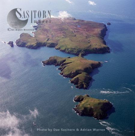 Skomer Island, An Island Off The Coast Of Pembrokeshire, West Wales