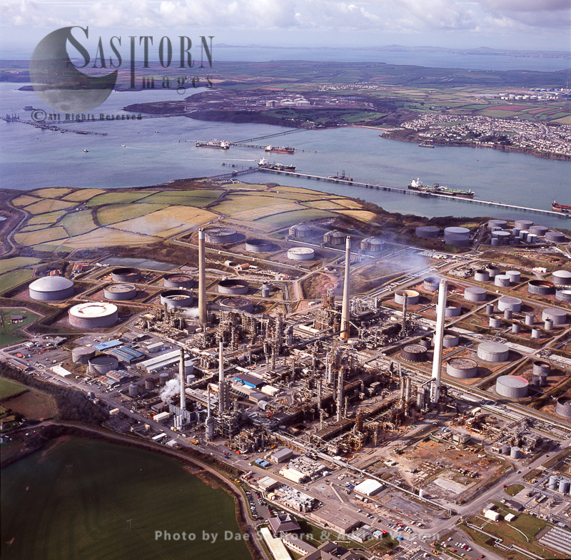 Oil Refinerry, Milford Haven, Pembrokeshire, South Wales