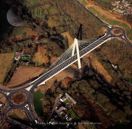Chartist Bridge, A Suspension Bridge Blackwood, Wales