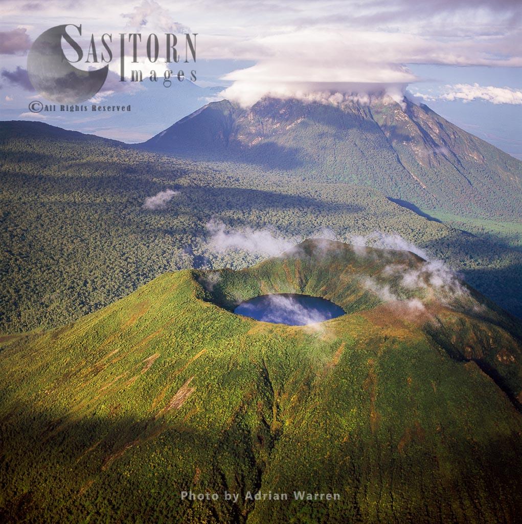 Mount Visoke  And Mikeno, Virunga Volcanoes