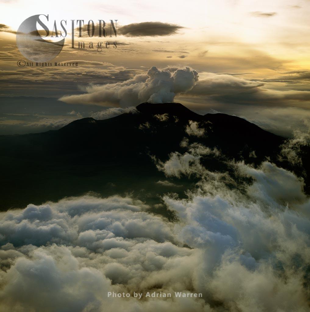 Mount Nyiragongo, An Active Volcano In The Virunga Mountains,  Virunga National Park, The Democratic Republic Of The Congo