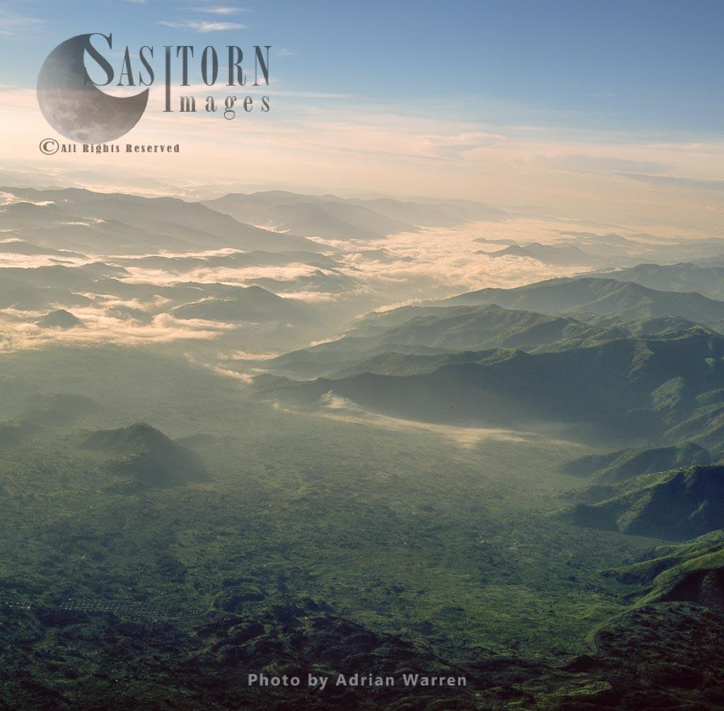 Aerial View Of The Great Rift Valley, East Africa: Virunga Mountains In Virunga National Park, Rwanda