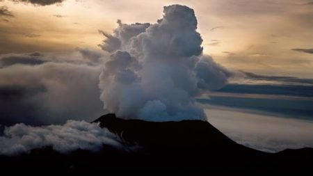 Mount Nyiragongo, Active Volcano In The Virunga Mountains, Virunga National Park, Congo, Great Rift Valley, East Africa