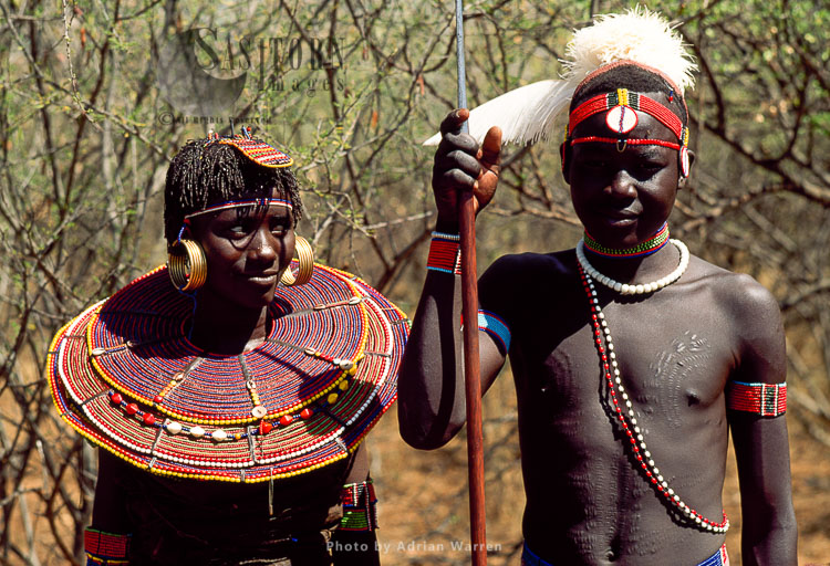 POKOT People, Couples, Northern Kenya, 1990, Africa