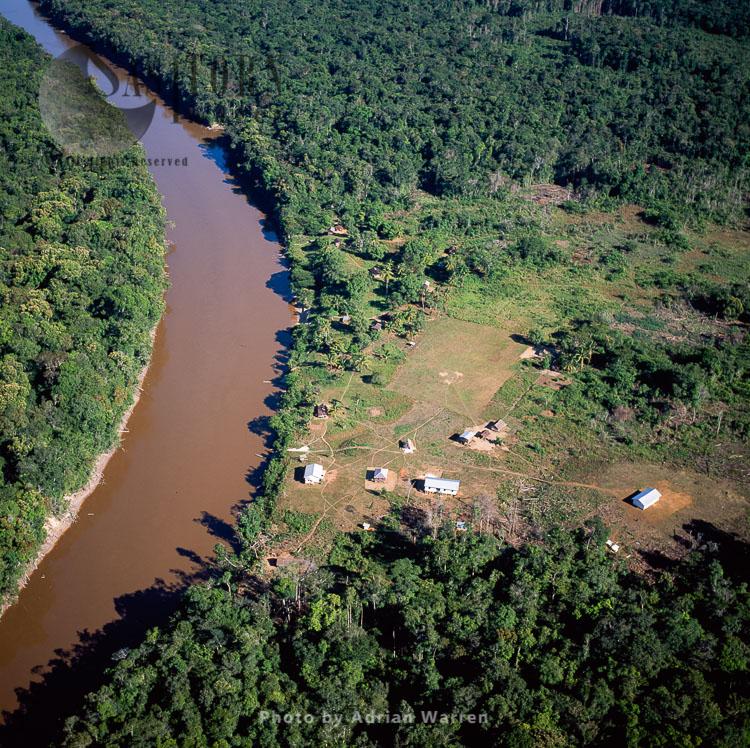 Quebenang, Amerindian Settlement, Mazaruni River, Upper Mazaruni District, Guyana