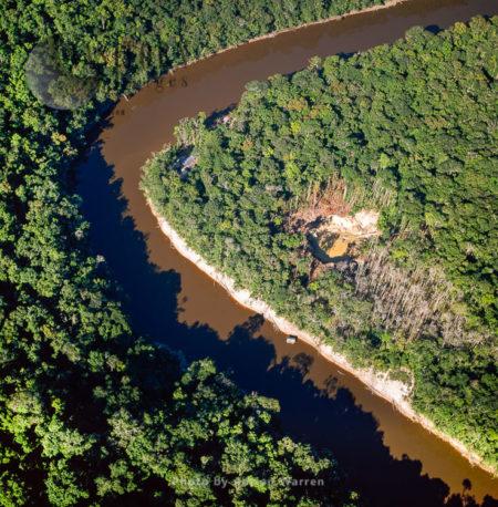 Mining Camp And Land Dredge Site, Mazaruni River, Upper Mazaruni District, Guya