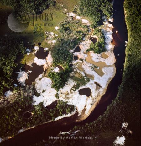 Mining Damage, On The Upper Mazaruni River, Guyana, By The Akawaio Amerindian Settlement Of Kambaru, South America