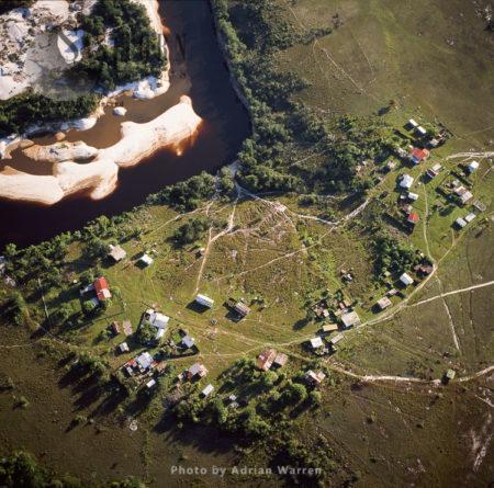 Gold Mining Site (April 2005) On The Upper Mazaruni River, Guyana, By The Akawaio Amerindian Settlement Of Kambaru.